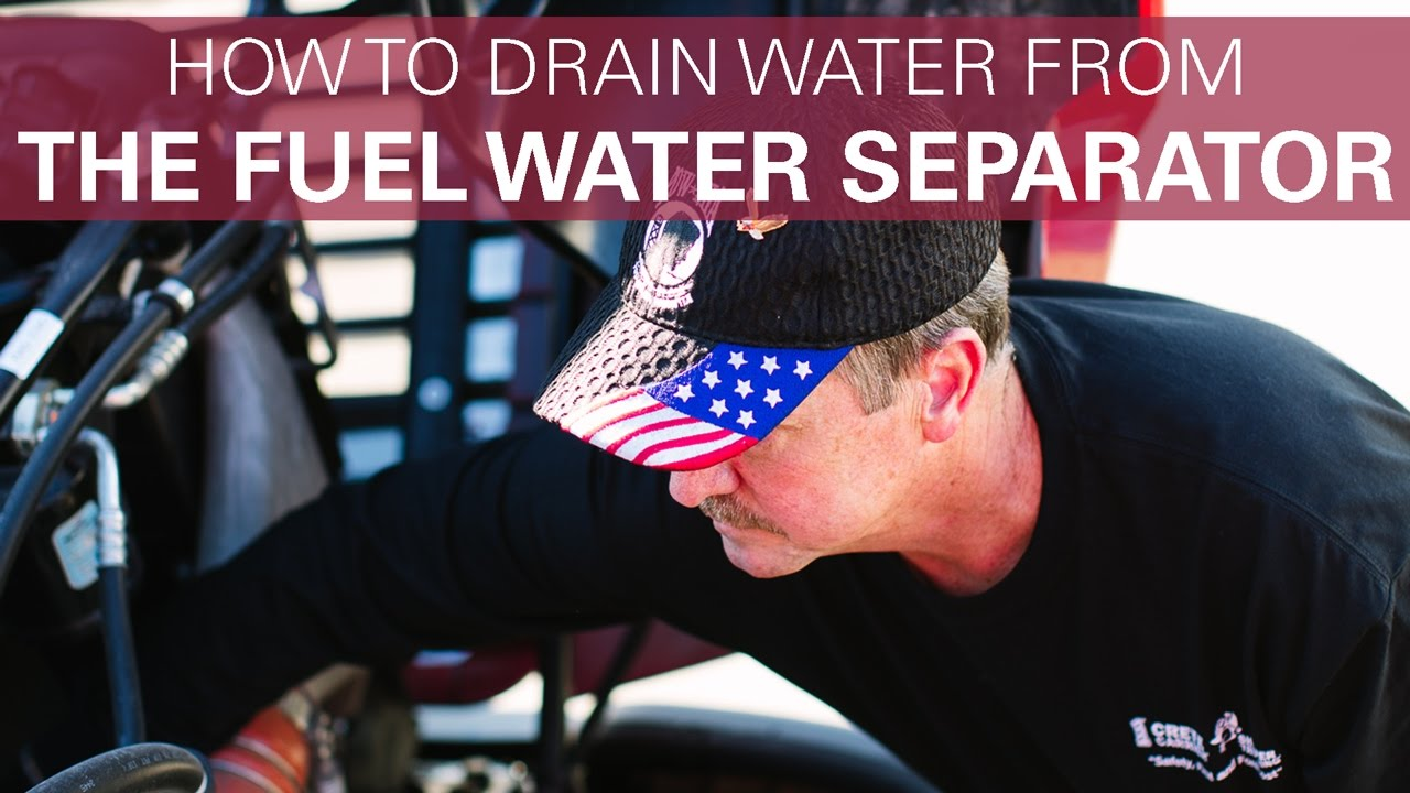 medium resolution of how to drain water from the fuel water separator freightliner cascadia