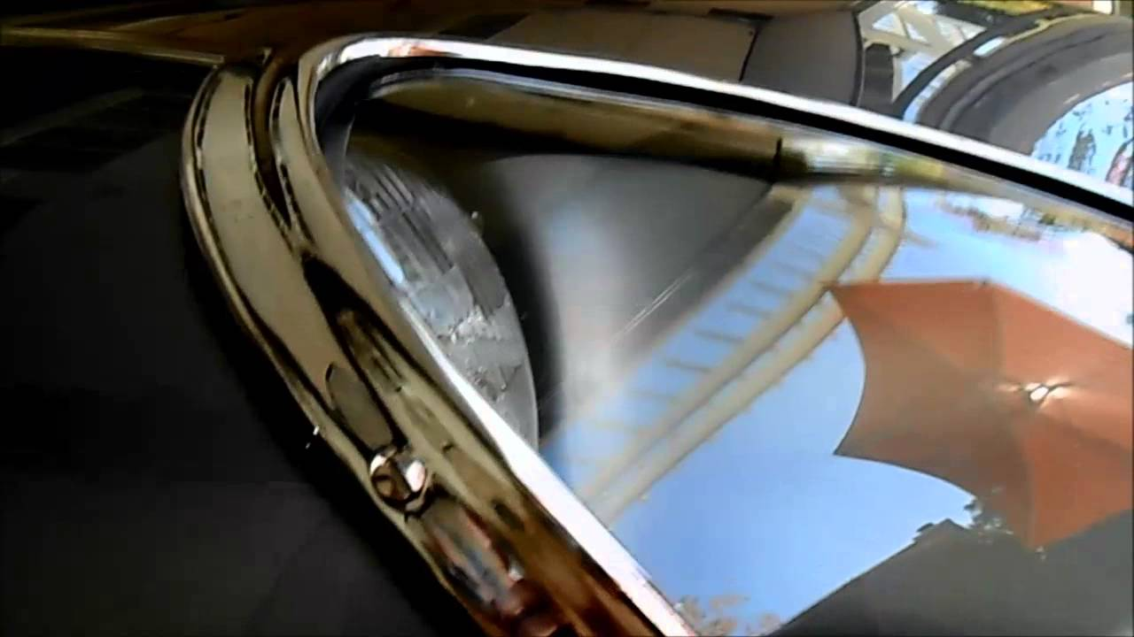 Bettie my 63 Jag EType Restoration  glass headlight cover and chrome trim installation  YouTube