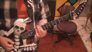 How to play Plaster Caster by KISS on guitar by Mike Gross(rockinguitarlessons.com)