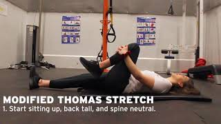York Lions | Personal Training - Modified Thomas Stretch