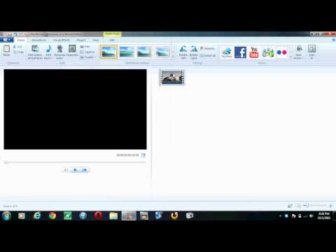 Muting The Audio From A Video With Windows Live Movie Maker