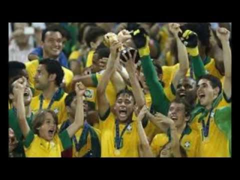 Brazil Spain Final Confederation Cup 2013 Celebration Brazil wins official photos of celebration