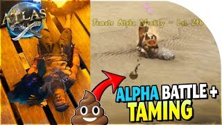 ALPHA MONKEY BATTLE + TAMING (NEW Island Ahoy!) in ARK Atlas Gameplay Part 5