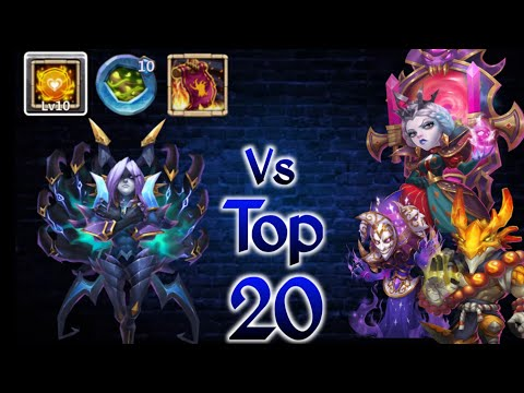 Phobos Vs Top-20 | New Build 😲🙄🙄 | 10 Tenacity | 10 VB | No Pet/Insignia | Castle Clash