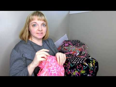 My Vera Bradley Breast Cancer Patterns Collection and Review