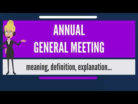 What is ANNUAL GENERAL MEETING? What does ANNUAL GENERAL MEETING mean?