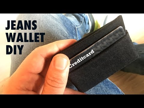 DIY Jeans Wallet / Card holder - How-to, tutorial