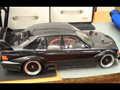 Rc mercedes benz 190 2 5 turbo drifting youtube for Rc mercedes benz