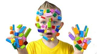 Lego hands Pretend play Martin and Monica