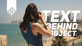 How To Create Text Behind Object Effect - Sony Vegas Tutorial