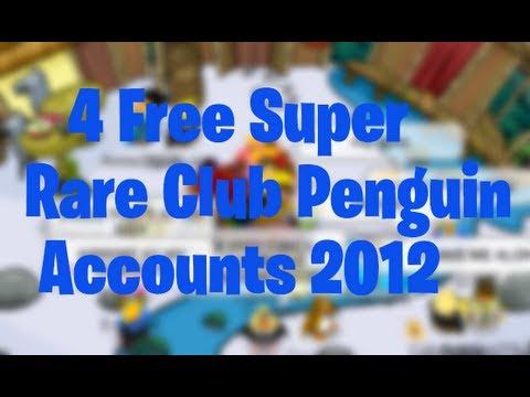 4 Free Super Ultra Rare Club Penguin Member Accounts 2012