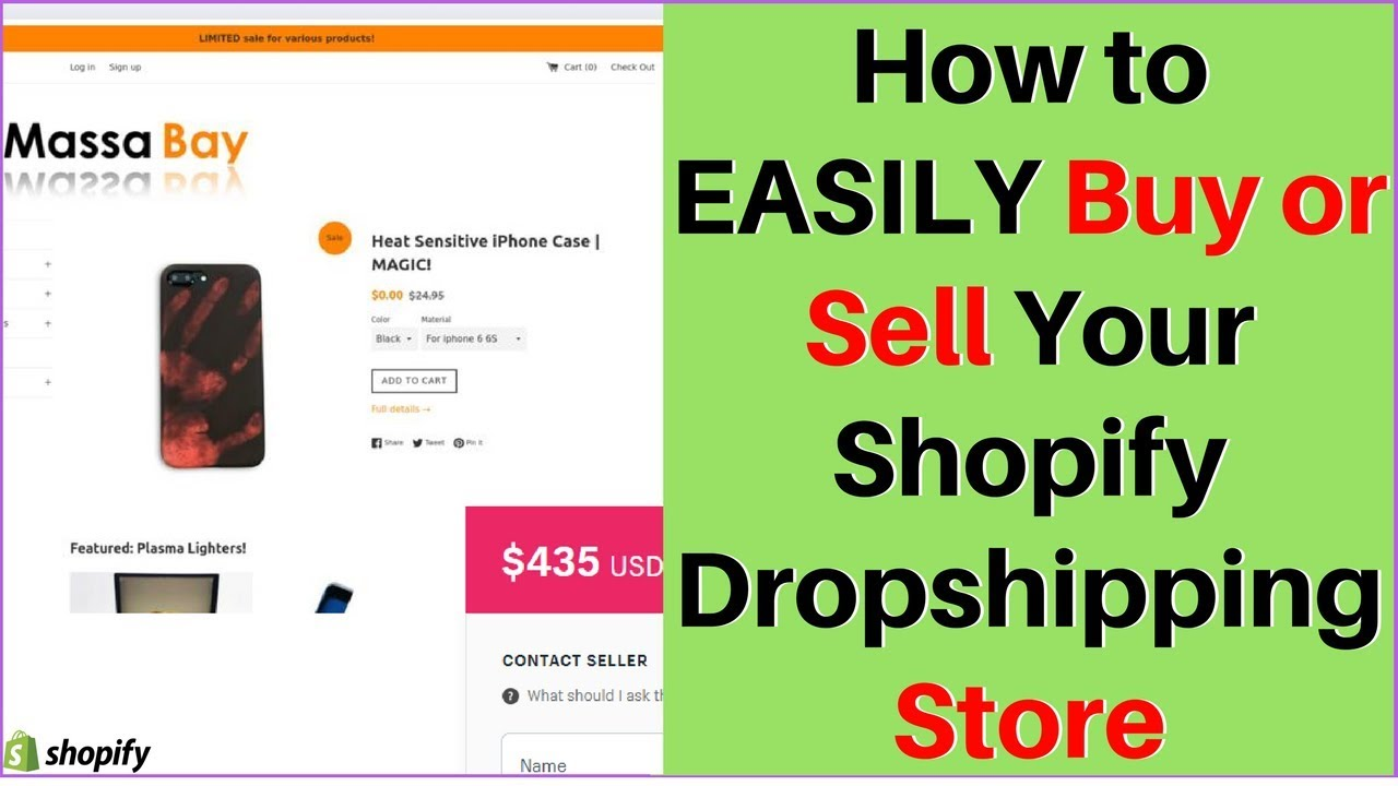 How to EASILY Buy or Sell Your Shopify Dropshipping Store 💰