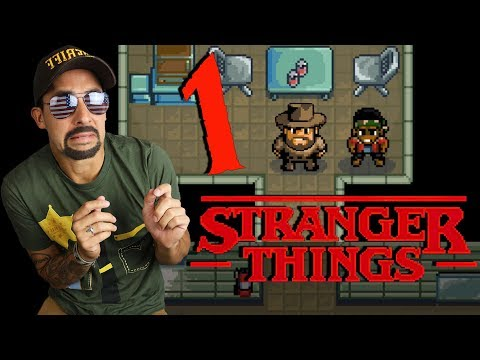 STRANGER THINGS VIDEO GAME HYPE! HOPPER and LUCAS SAVE THE DAY Part 1! STRANGER THINGS VIDEO GAME!