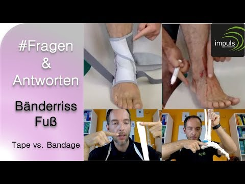 Tape oder Bandage - Was ist besser?!? // Fragen & Antworten Bänderriss Fuß