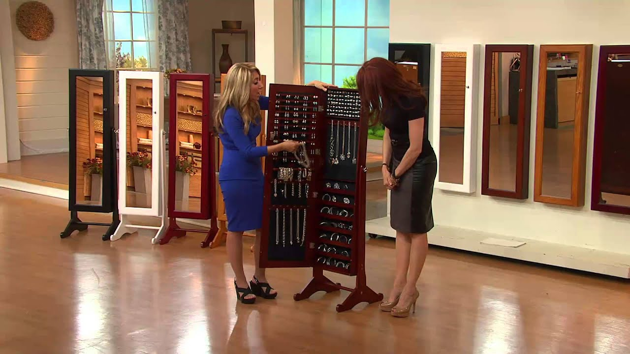 Gold U0026 Silver Safekeeper Mirrored Jewelry Cabinet By Lori Greiner With Lisa  Robertson