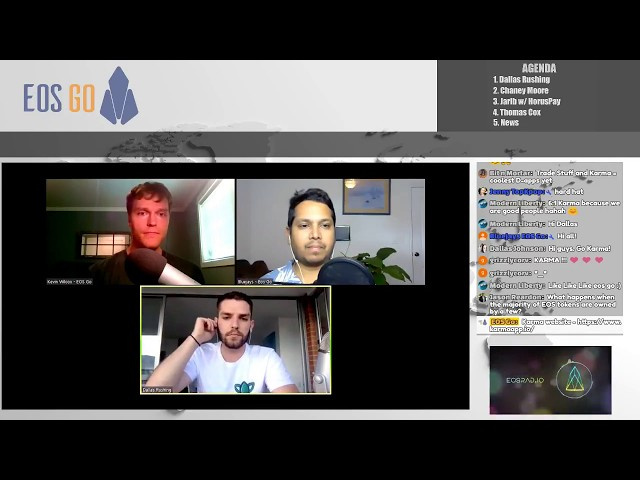 EOSRad.io 17 - Dallas Rushing w/ Karma, Chaney Moore on Airdrops, Horuspay, & Thomas Cox