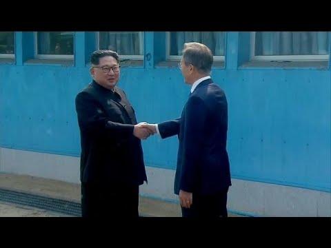 Así fue el histórico encuentro entre los líderes de las dos Coreas
