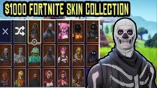 ALL MY RARE FORTNITE SKINS! $1000 FORTNITE SKIN COLLECTION! (FREE SKINS INCL)