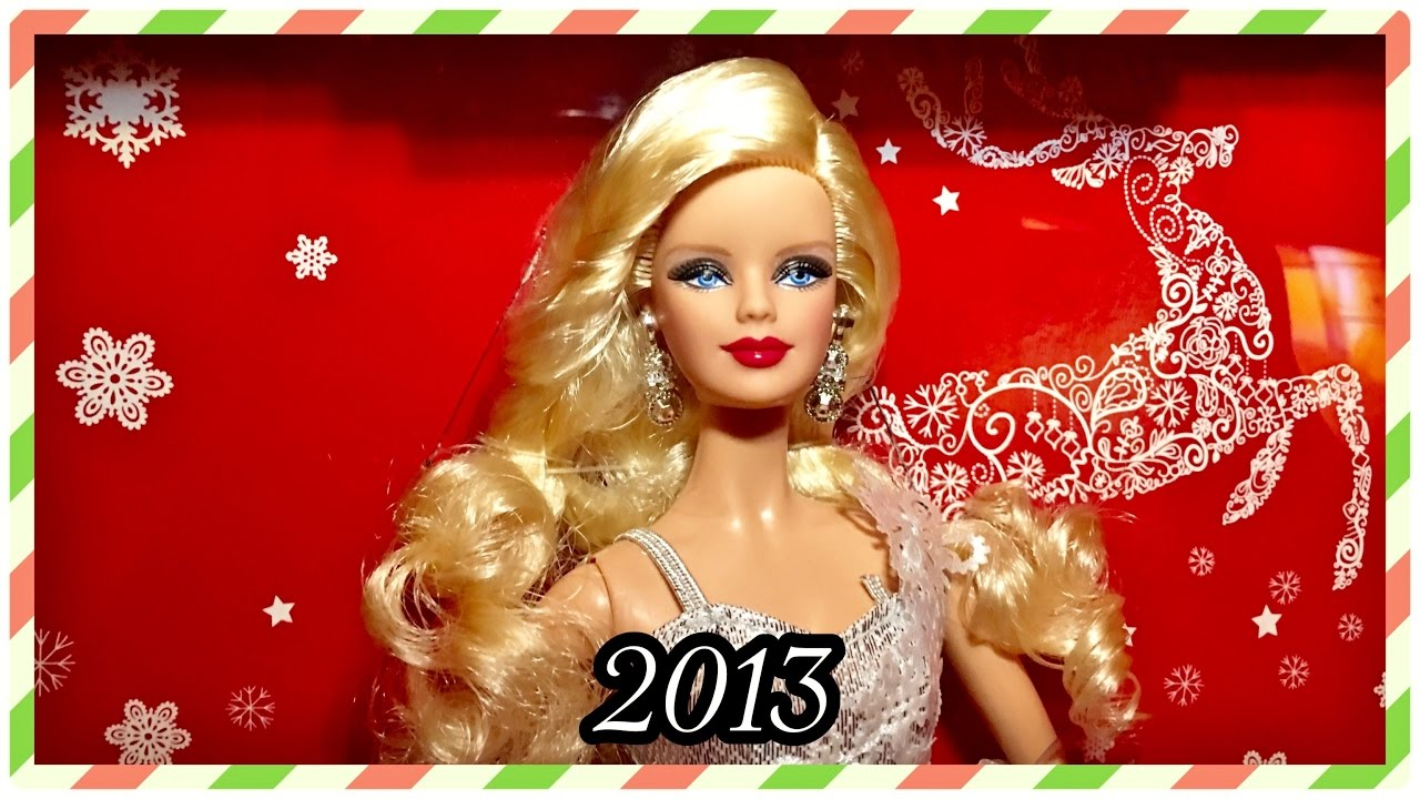 2013 28 Years Of Holiday Barbie Dolls Christmas
