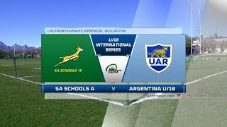 U18 Rugby | SA Schools  vs Argentina | Highlights