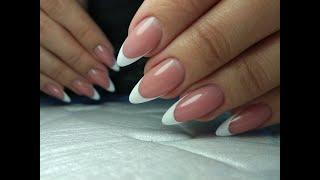 Наращивание ногтей сама себе /французский маникюр /гель Силкар /Fox Strong/Nail Apex