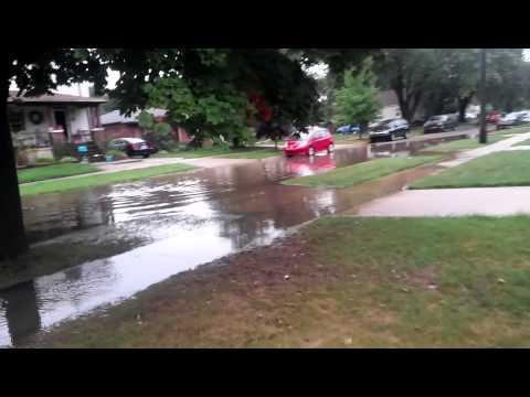 2014 flood in Dearborn,Mi