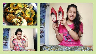 Vlog Home Remedy silky smooth freeze free hair mask Dhokla recipe in microwave Land of dreamzzz
