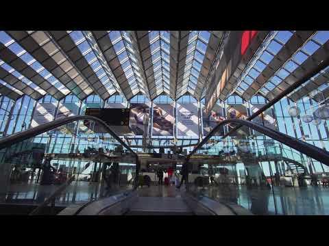 Sweden, Stockholm, Arlanda Airport, Terminal 2 - 5 , 6X escalator , 2X elevator 1X moving sidewalk