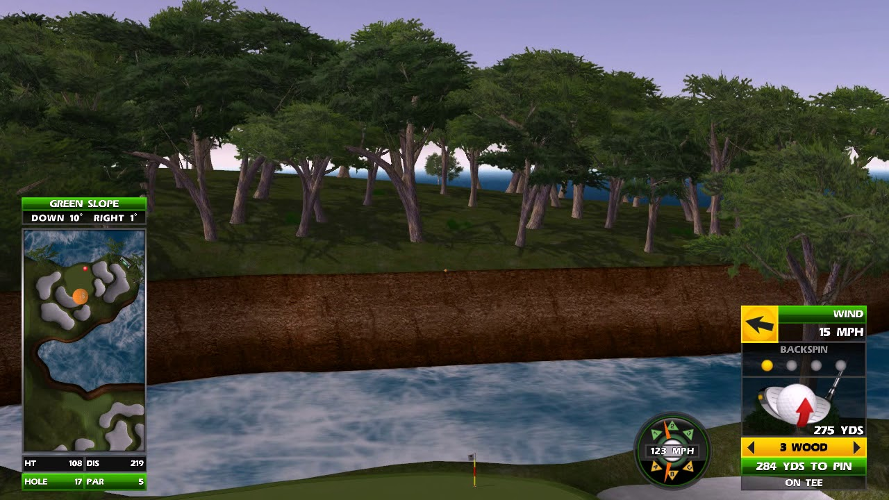 Golden Tee Great Shot on Cypress Cove! - YouTube