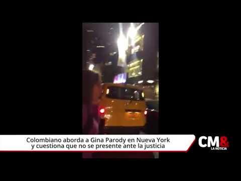Colombiano aborda a Gina Parody en Nueva York y cuestiona que no se presente ante la justicia