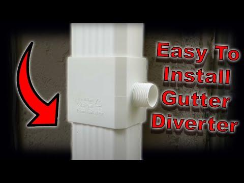 How to install a rain gutter diverter