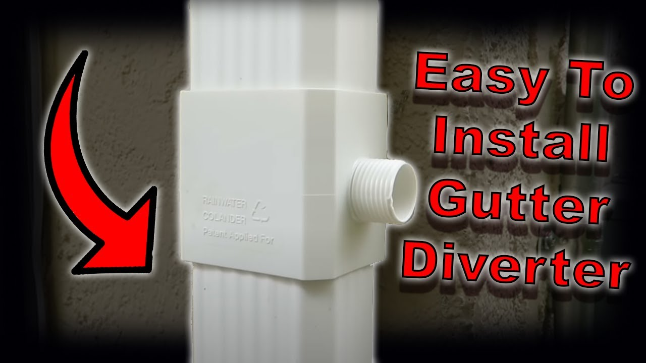 How To Install A Rain Gutter Diverter Youtube