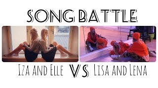 Musical.ly Song Battle Compilation | Lisa and Lena VS Iza and Elle | Part 2
