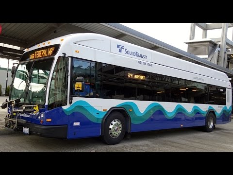 JET PROPELLED BUS!!! Sound Transit BRAND NEW 2015 Gillig BRT Plus CNG 41504 on Rt. 574