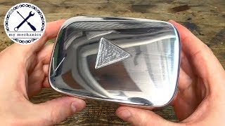 Handmade Silver Play Button - No Power Tools