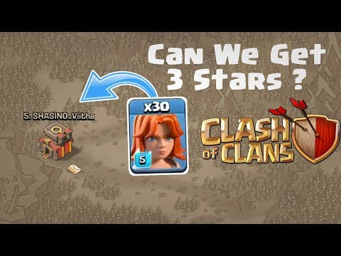 30 Valkyrie vs Max TH10 | Who Will Win ? | Mass Valkyrie War Attack | Clash of clans