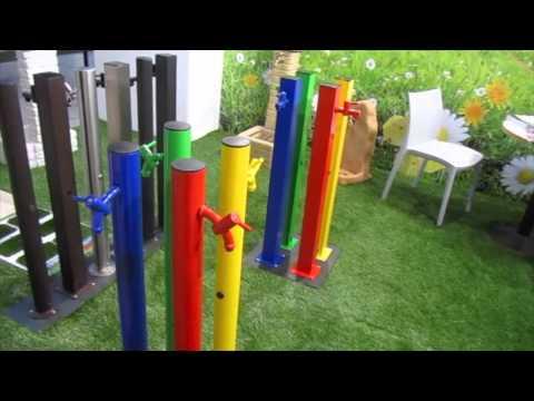 Fontanelle in acciaio colorate per il giardino da bonfante ...