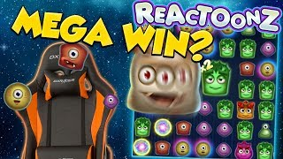 CHAIR BIG WIN! Gets a HUGE win on his favorite casino game reactoonz!