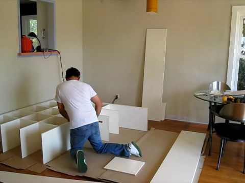 build an ikea expedit book case youtube. Black Bedroom Furniture Sets. Home Design Ideas