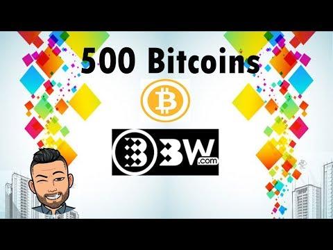 500 Bitcoins na exchange BW.com , ganhe todos os dias ! 0,001 ao cadastrar..