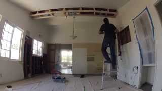 Kitchen Remodeling - Day 4 Of 17 - Electric Work, Ducting, Floor Tile Layout, Kitchen Tiling
