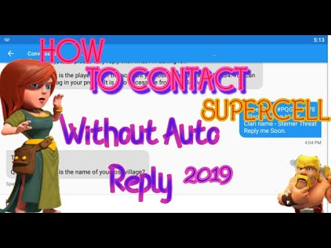 How To Contact Supercell In Help And Support Without Auto Reply/100%works 2019