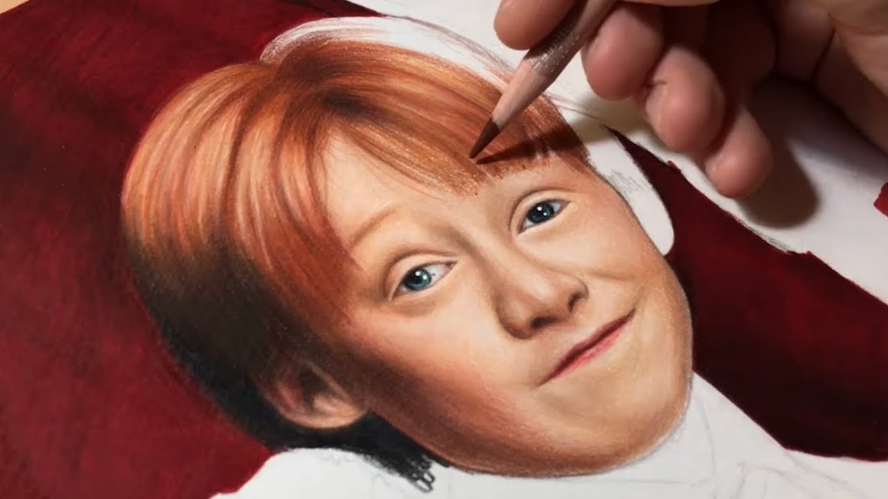 Drawing Harry, Hermione and Ron - Real Time Video #1