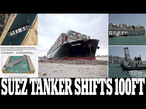 Map footage shows how the Suez canal became blocked by the #EverGreencontainer shop.