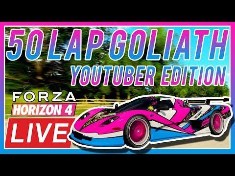 🔴[LIVE]Forza Horizon 4: 50 Lap GOLIATH!! (YouTuber Edition!!) thumbnail