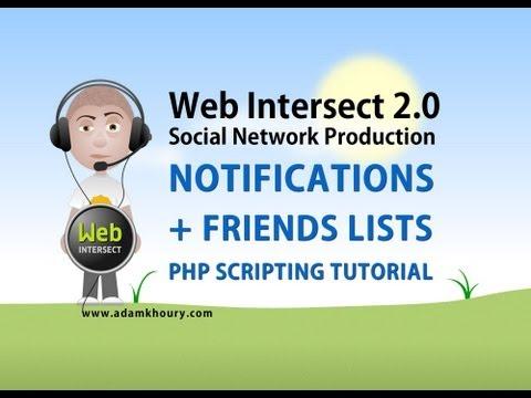 12. Friend Lists and Social Website Notifications PHP MYSQL JavaScript Ajax Tutorial