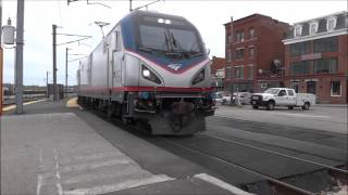 Amtrak & SLE Train Spotting @ New London Station