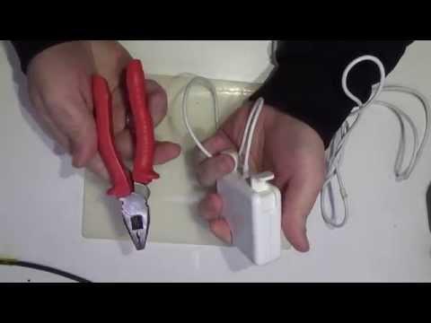 Macbook power adapter easy disassembly. Как разобрать адаптер Magsafe