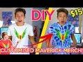DIY LOGAN PAUL MAVERICK TIE DYE MERCH TSHIRT FOR $15!! GeorgeMasonTV