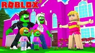 Zombie Roblox Family | Goes To Barbie's Dreamhouse | Episode 3
